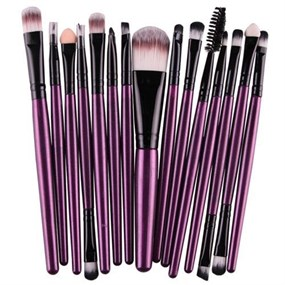 15 Pcs Makeup Brushes Set - Purple