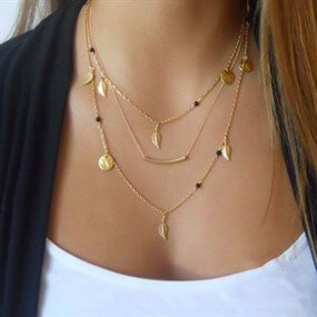 Delicate Triple Strand Necklace