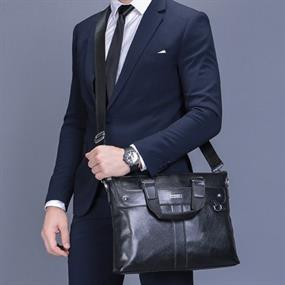Business Bag - black leather