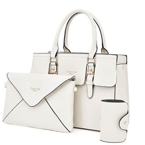 Elegant 3 Pcs Bag Set - Ivory