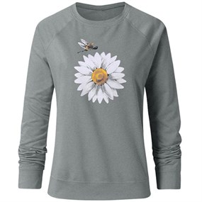 Daisy Long Sleeve T-Shirt/XL - grey
