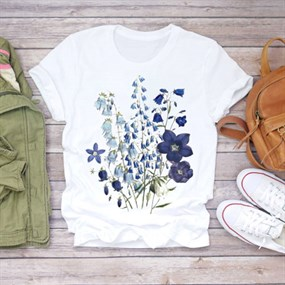 Flower Print T-shirt - XL